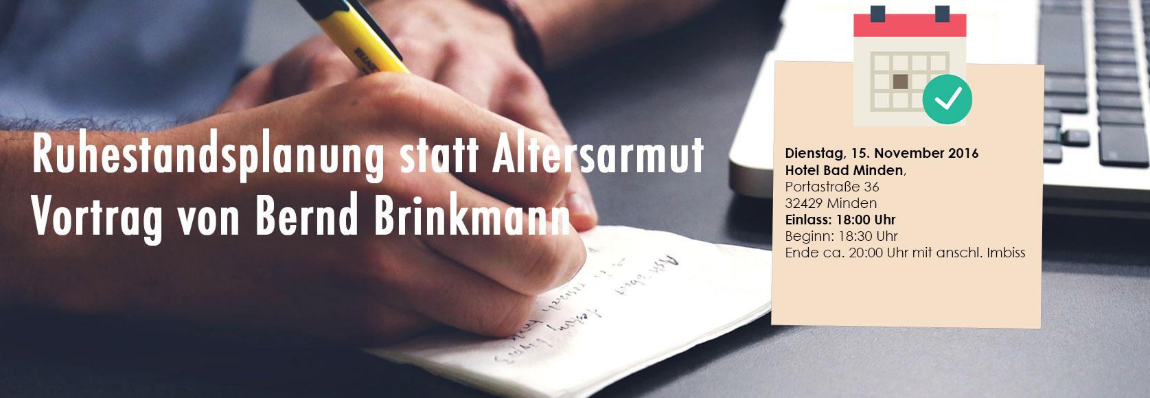 Ruhestandsplanung statt Altersarmut - Bernd Brinkmann